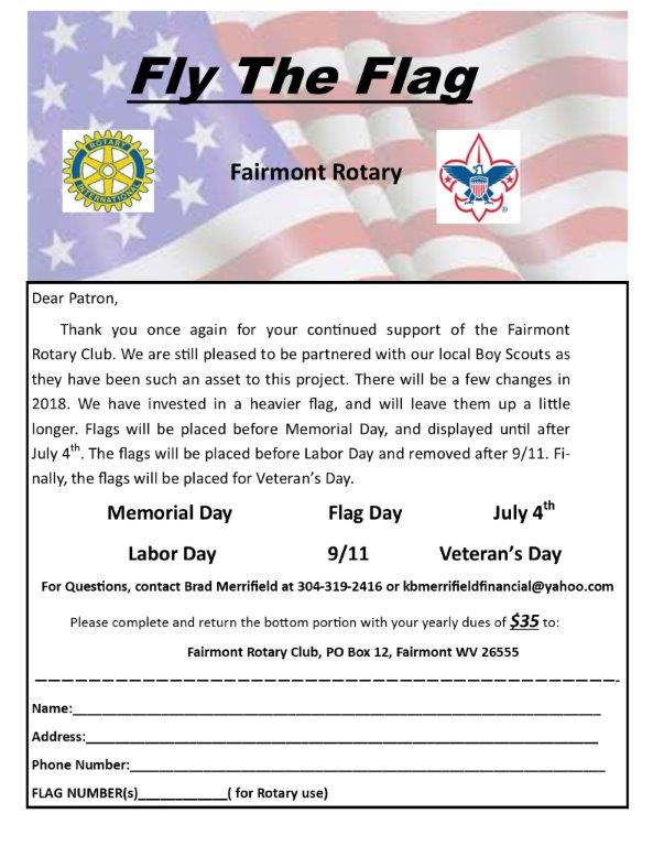 Rotary Club Fly the Flag Application