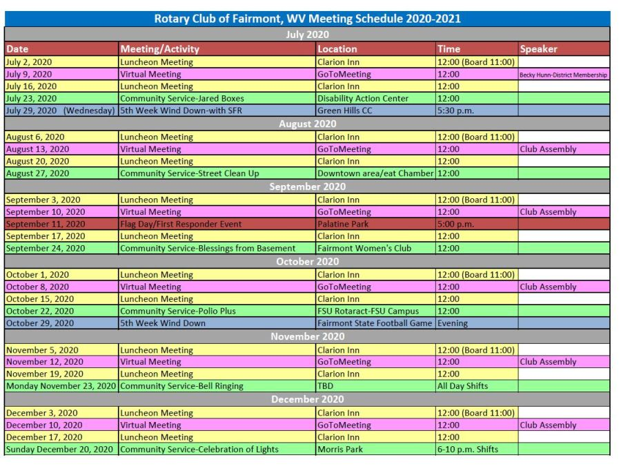 Rotary Schedule 20-21 Pic